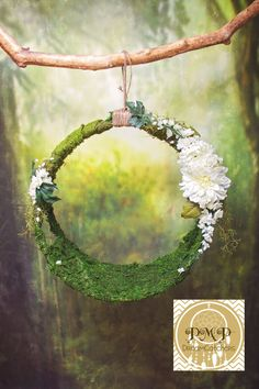 Baby Moss Dream Catcher Newborn Prop by PMPDreamCatchers on Etsy