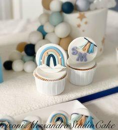 Fondant Rainbow, Baby Shower Cupcakes, Cupcake Baby Showers