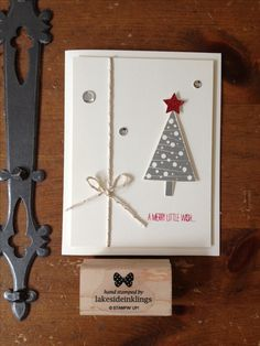 Stampin' Up! Festival of trees, Christmas cards 2014-15, occasions mini 2014-2015, Christmas tree punch
