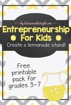 Entrepreneurship for Kids - Create a Lemonade Stand!