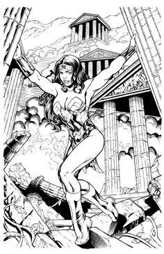 Kevin Sharpe Wonder Woman inks by Frisbeegod