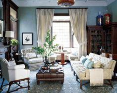Modern English Tudor Living Room Style
