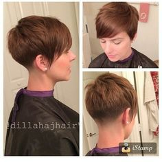 Asymmetric pixie with tapered nape
