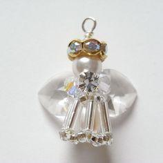 Beaded Angel Charm   JewelryLessons.com