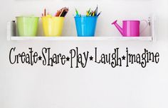 Playroom Childrens Decor Wall Decal - Kids Playroom Decal Vinyl Lettering -  Vinyl Wall Art -Vinyl Wall Decal via Etsy