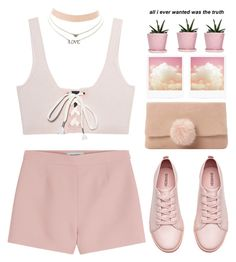 """""""i wanna get better"""" by amxnduhh ❤ liked on Polyvore featuring H&M, Charlotte Russe, Dune, Dot & Bo, Puma and Valentino"""