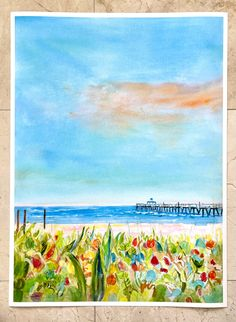 Shop Giclee Fine Art Prints of South Florida by Laura Trevey 22x30 watercolor paper