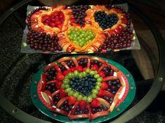 Valentine fruit trays