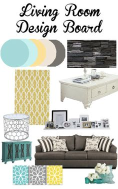 Living Room Design Yellow Aqua Turquoise