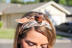 scarf tie headband