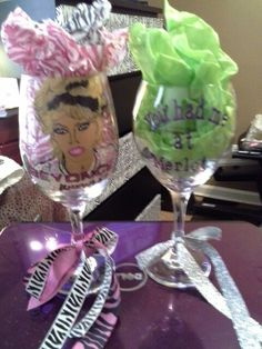 Beyonce glass made by my daughter... You had me @ Merlot glass made by me...