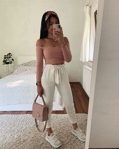 Pin on Cute casual outfits Cute Comfy Outfits, Cute Summer Outfits, Girly Outfits, Simple Outfits, Outfits For Teens, Stylish Outfits, Summer Clothes, Basic Outfits, Outfit Summer