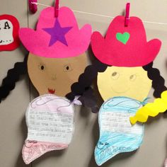 """A Book About Cowboys and Cowgirls"""" and then do some """"If I were a cowboy/cowgirl"""" writing! Super fun for a Texas or cowboy theme. I love doing this one with my first grade kiddos. Cowboy Theme, Western Theme, Cowboy And Cowgirl, Teacher Tools, Teacher Stuff, Classroom Themes, Classroom Activities, Theme Ideas, Art Ideas"""