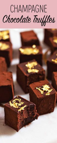 Could You Eat Pizza With Sort Two Diabetic Issues? Champagne Chocolate Truffles So Easy, Yet So Impressive. Made With Just Dark Chocolate, Cream, And Champagne Add Gold Leaf On Top If You're Feeling Fancy. Candy Recipes, Holiday Recipes, Dessert Recipes, Chocolate Truffles, Chocolate Cream, Chocolate Brownies, Chocolate Desserts, Chocolate Covered, Chocolates