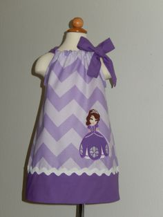 Princess Sofia The First Pillowcase Dress by Just4Princess on Etsy, $28.50