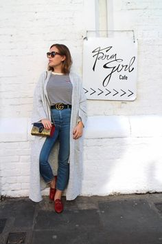 Lunch at Farm Girl - Tanya Burr: Gucci, Gucci, and Gucci. Cute Spring Outfits, Winter Outfits, Loafers Outfit, Gucci Loafers, Winter Fashion, Spring Fashion, Tanya Burr, Duchess Kate, Classy Outfits