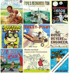 Books for Kids Who Like to Tinker and Invent STEM books. Picture books about inventions. Is your child a budding engineer or inventor? Picture books about inventions. Is your child a budding engineer or inventor? Mentor Texts, Teaching Science, Science Books, Library Science, Science Crafts, Kids Reading, Reading Lists, Reading Room, Children's Literature