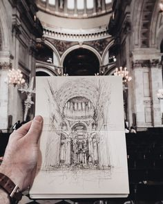 Pen Art By Luke Adam Hawker. Luke Adam Hawker, who continues his pen art life in London, describes himself as a designer. Drawing Sketches, Art Drawings, Drawing Drawing, Sketch Art, Architecture Drawings, Museum Architecture, Art Hoe, Wow Art, Urban Sketching