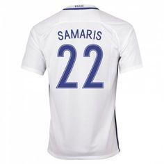Greece Jerseys 2016/17 Home Soccer Shirt #22 Samaris
