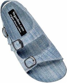 Women's Recycled Denim Sandals