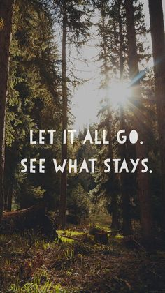 Let it all go iPhone wallpaper quote