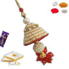Pearl Lumba Rakhi. #lumba #Rakhi #RAkhiGifts#SendRakhi#OnlineRakhi#rakhitoindia Rakhi To India, Rakhi Online, Rakhi Gifts, Bracelet Watch, Charmed, Pearls, Bracelets, Accessories, Jewelry