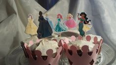 disney princesses cupcake toppers by nameaframe on Etsy