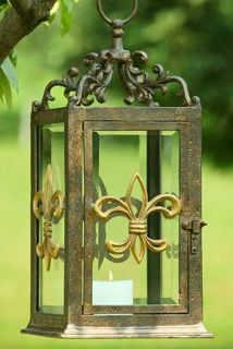 Hanging Fleur de Lis Garden Candle Holder