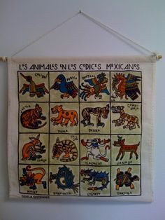 Animals from the Mesoamerican codices. Suggestions for using it as a loteria game.