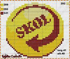 C2c, Counted Cross Stitch Patterns, Superhero Logos, Crochet, Weapons, Free Cross Stitch Patterns, Crochet Decoration, Logos, Frames