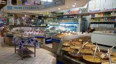 Greek food in Saint-Germain market. Saint Germain, Greek Recipes, Marketing, Food, Home Decor, Products, Decoration Home, Room Decor, Essen