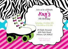 Free Printable Skating Invitations