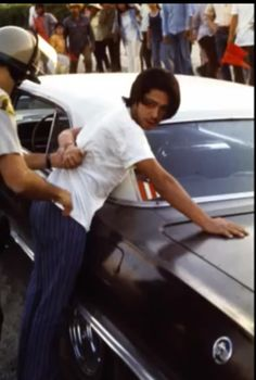 Protester being arrested during Cesar Chavez protest in the 70's. Thermal,Ca