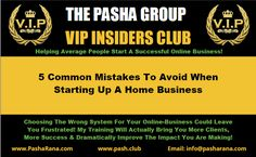 5 Common Mistakes To Avoid When Starting Up A Home Business