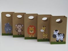 10 Safari Party Favor Bag-Safari Baby Shower Candy/Treat Ba