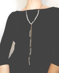 Freshwater Pearl woven statement necklace, quil jewelry