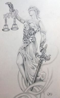 Lady Justice photo: My take on lady justice, drafted up for a tattoo. This photo was uploaded by Klyde_Chroma