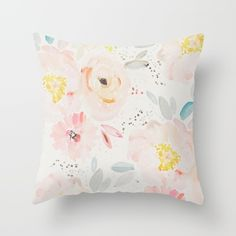 Buy watercolor field Throw Pillow by Sweet Reverie. Worldwide shipping available at Society6.com. Just one of millions of high quality products available.