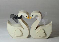 Swans Wedding Cake Topper Rustic Weddings by RusticWeddingDay