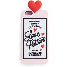 Love Potion 6/6s IPhone Case ($32) ❤ liked on Polyvore featuring accessories, tech accessories, phone, phone cases, cases, iphone case, iphone silicone case, apple iphone cases, iphone cover case and iphone sleeve case