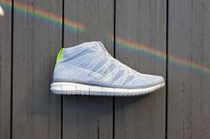 #Nike Free Flyknit Chukka Wolf Grey #sneakers