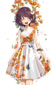 "[Artwork] Wearing a skirt for ""it"" is cool! – About Anime Arte Do Kawaii, Manga Kawaii, Kawaii Anime Girl, Anime Girls, Anime Art Girl, Anime Girl Drawings, Anime Artwork, Cool Artwork, Anime W"
