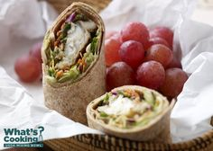 Roasted Fish Crispy Slaw Wrap #veggies #grains #protein #MyPlate #WhatsCooking