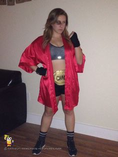 Knockout Woman's Boxer Costume - 2015 Halloween Costume Contest