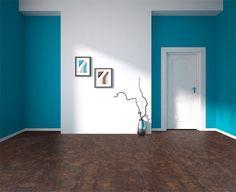 Gemwood cork floor green abstract d geometrical design.