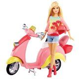 Barbie Pink Glam Scooter & Doll