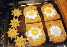 Sunshine toast baked with eggs!
