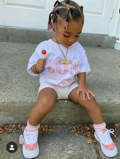 Cute Toddler Hairstyles, Lil Girl Hairstyles, Mixed Kids Hairstyles, Cute Little Girls Outfits, Kids Outfits Girls, Baby Outfits, Black Baby Girls, Cute Baby Girl, Cute Kids Fashion