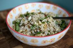 Toasted Almond Herbed Brown Rice | Aggie's Kitchen   #ThinkFisher