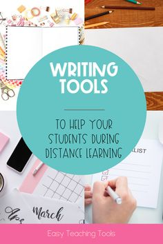 During distance learning, your students should still be writing! These writing tools will help your students during distance learning.